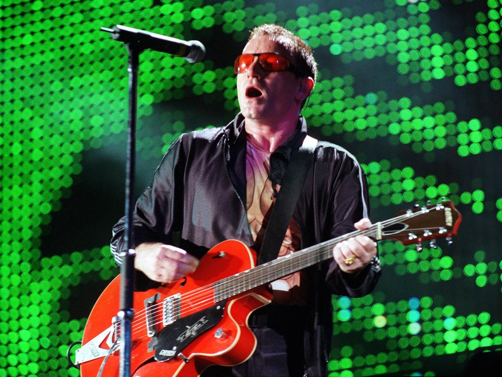 U2 on one of their previous tours of Australia. Picture: Steve Pohlner
