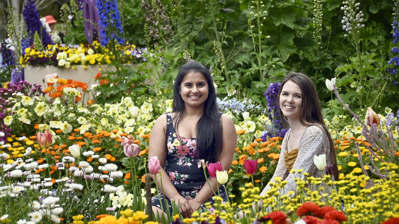 DESTINATION GOLD: Making the trip from the coast to Toowoomba at this year's Carnival of Flowers were (left) Prab Kaur and Gemma Marano.