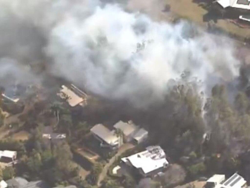 Bushfire at The Gap. Photo: 7 News