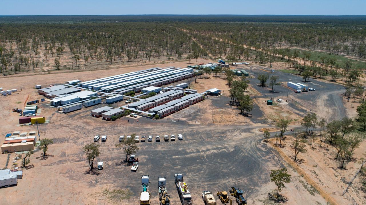The first heavy equipment arrives at Adani's Labona Camp in central western Queensland to commence construction on Carmichael Mine in late 2018. Photo: Cameron Laird