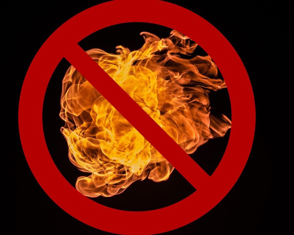 A fire ban is in place in Noosa until October 4.