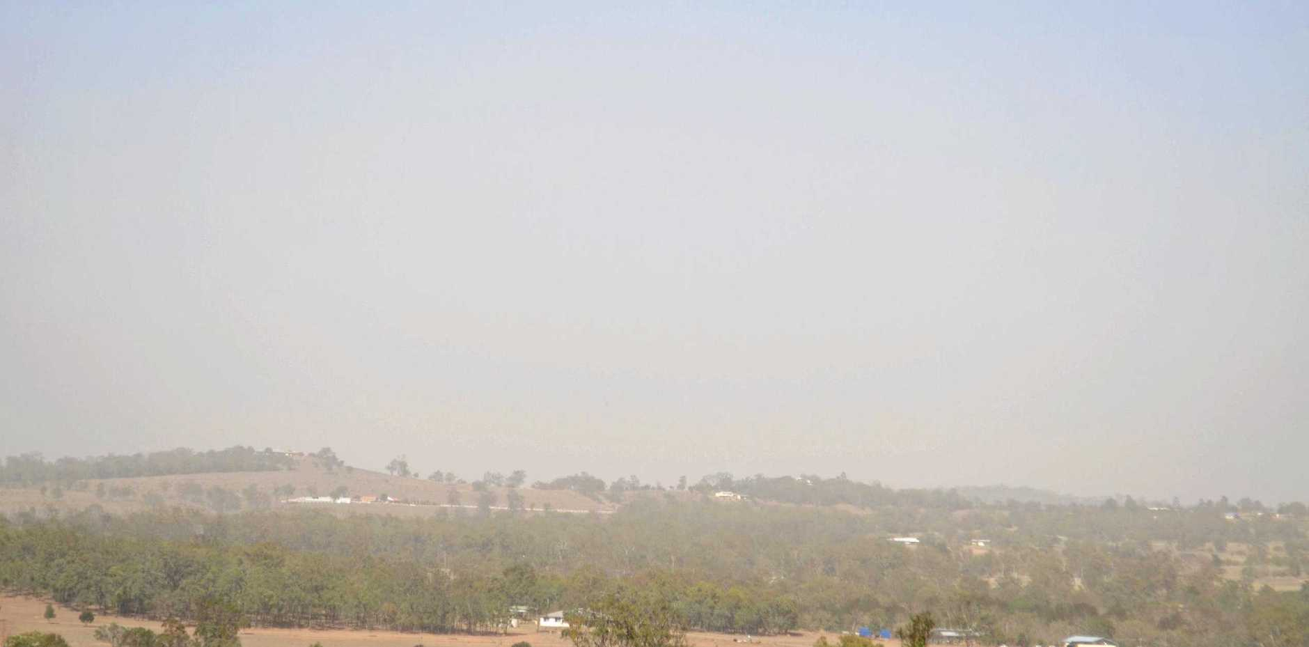 Dangerous levels of smoke as bushfires rage nearby.