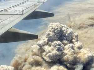 'Frightening': Shock fire pic from plane