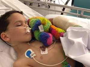 Boy's second chance after freak mower accident