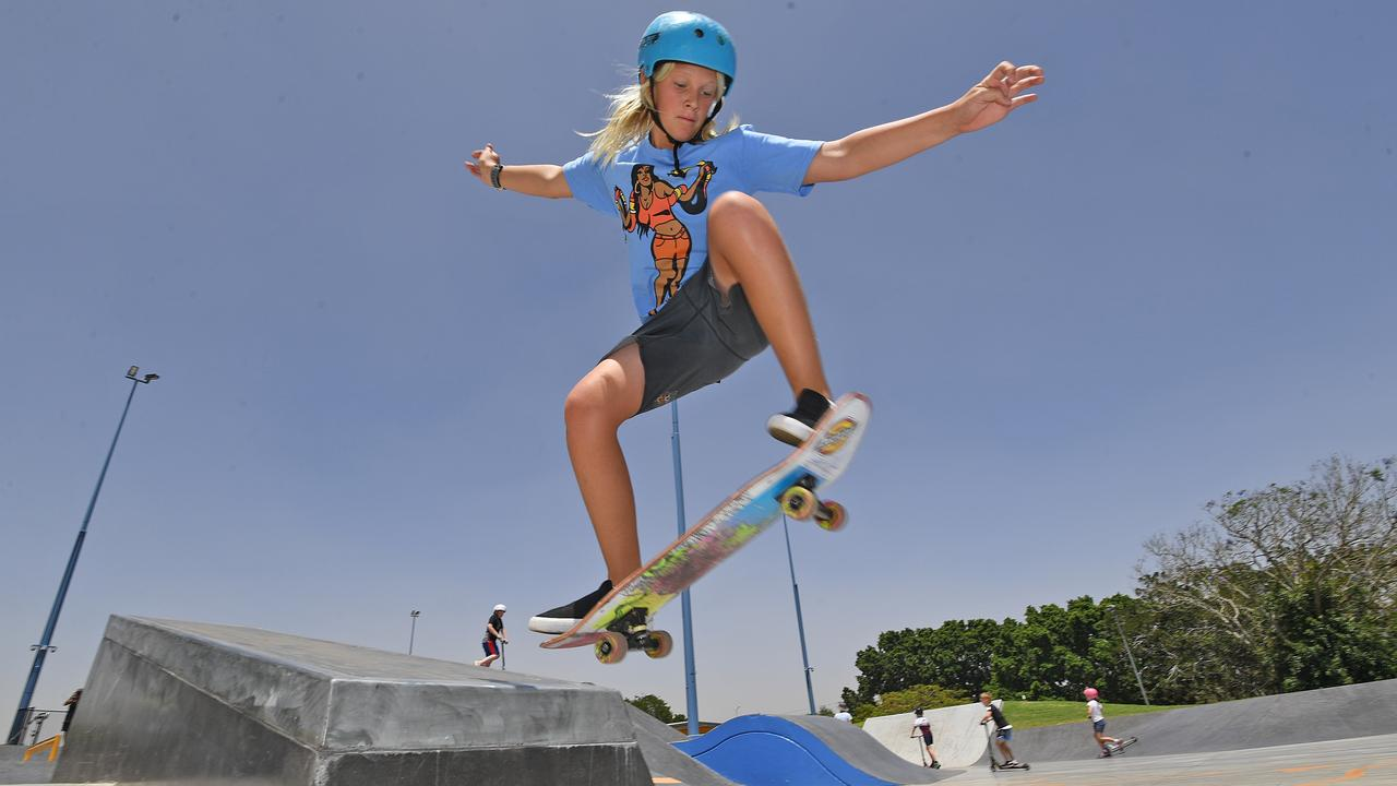 HIGH FLYING: Beau Collet tries out his skate techniques at the Gympie Youth Precinct and Skate Park on Saturday November 9.