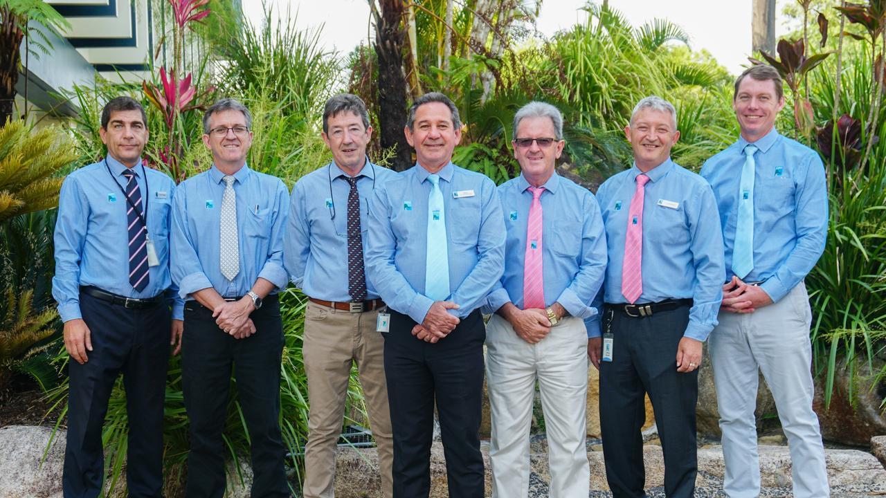 Cassowary Coast Regional Council councillors Glenn Raleigh, Rick Taylor, Wayne Kimberley, Mayor John Kremastos, Mark Nolan, Jeff Baines and Ben Heath.