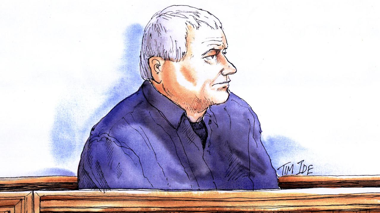 A sketch of Stephen Chowis in Port Adelaide Magistrates Court in 2005.