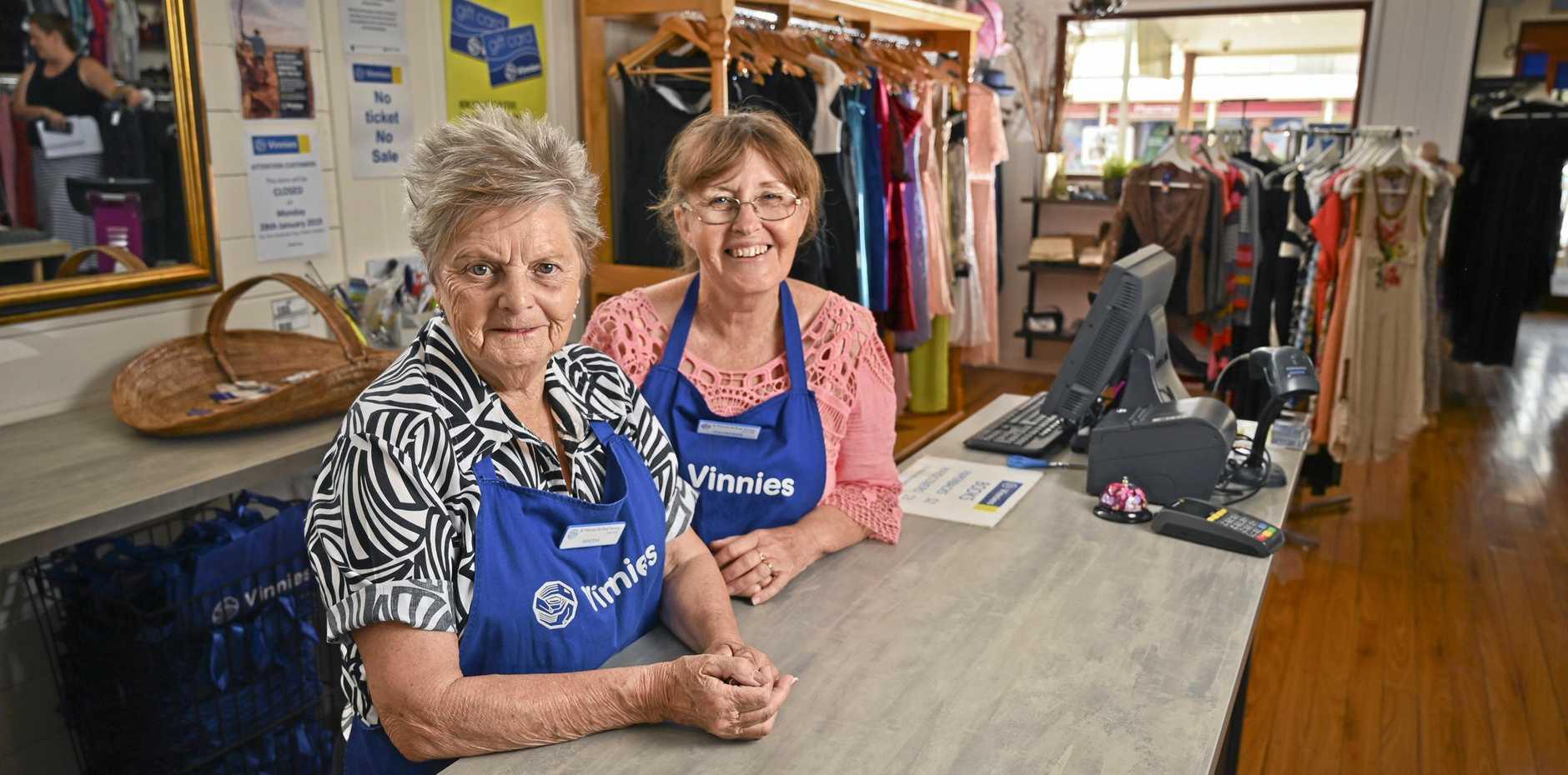 Rhonda Murray and Teresa Rasmussen, Rosewood Vinnies volunteers.