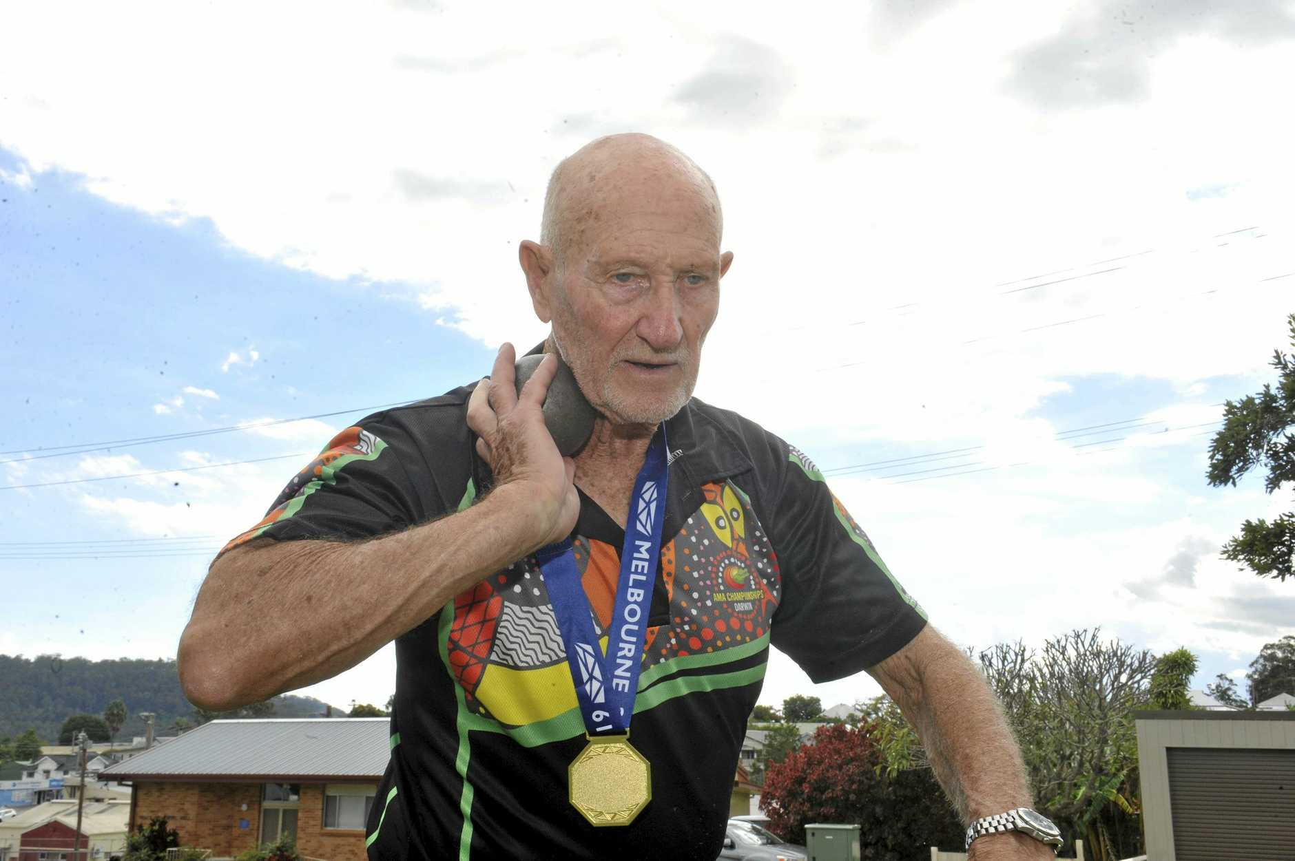 Masters athlete Tom Hancock claimed seven gold medals at the National Masters Games.