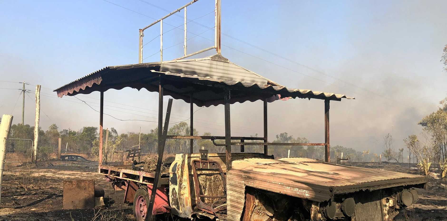 A bushfire a Gregory River has caused damage as it moved in a north, north-west direction from the Bruce Highway toward Longford Creek.