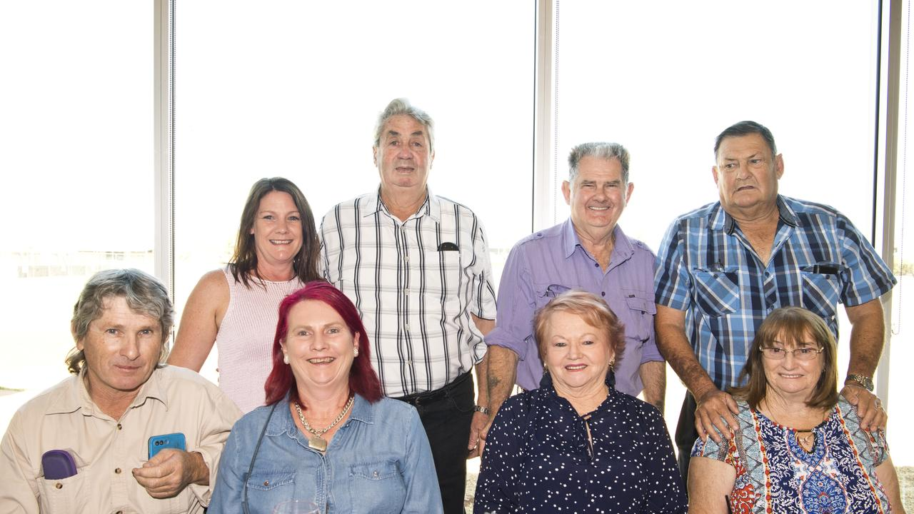 ( From left ) Neil Brosnan, Leanne Bougoure, Sonya Brosnan, Ron Rielly, Noeline, Wayne, Rodney and Val Achilles. Achilles family reunion. Picture: Nev Madsen. Saturday, 9th Nov, 2019.