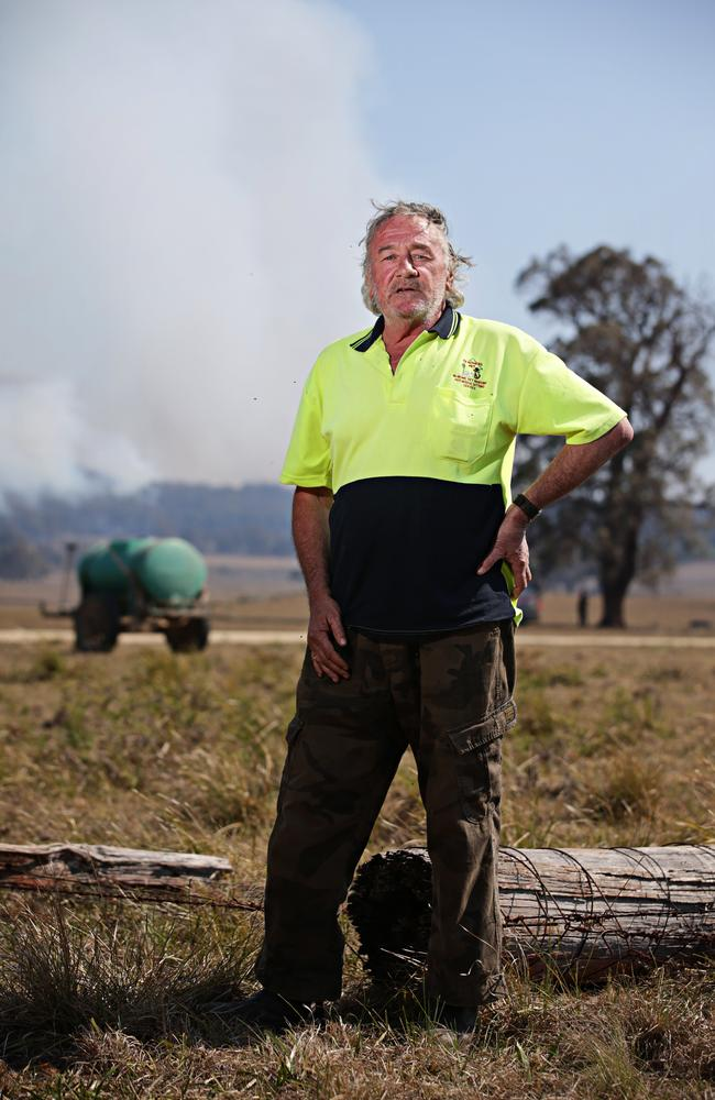 Gary Wilson was saved by firefighters just when he thought he was a goner. Picture: Adam Yip