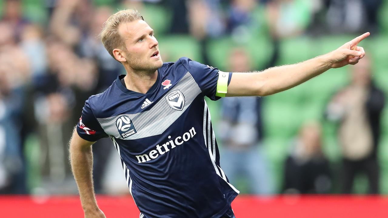 Ola Toivonen secured a point for Melbourne Victory with a second half goal. Picture: AAP Images