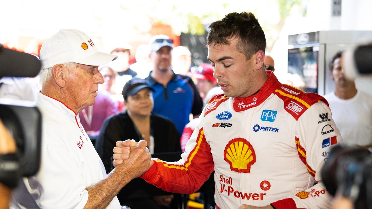 Dick Johnson with DJR Team Penske champion Scott McLaughlin.