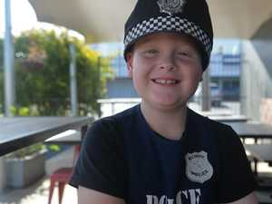 Mackay Police help boy's dreams come true