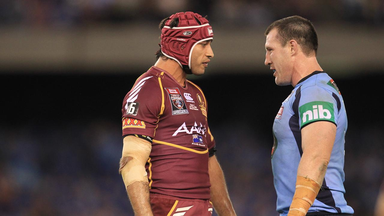 Gallen argues with Johnathan Thurston during Game One of the 2012 series.