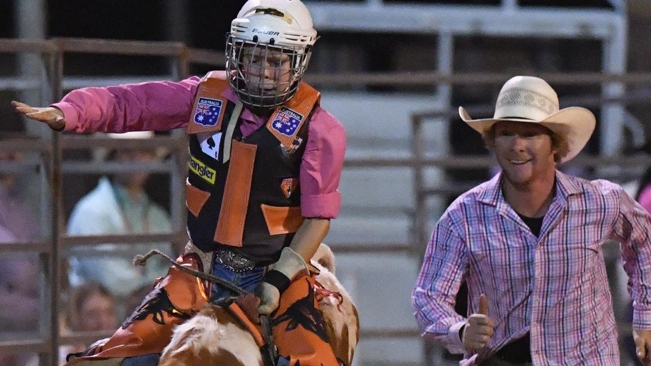 Rodeo, Utes and Music at the Maryborough Showgrounds - U/12 Poddy Ride - Angus Hollands.