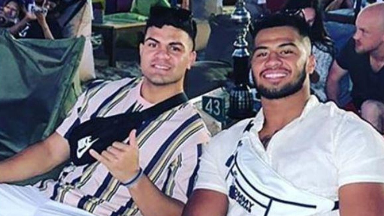 David Fifita and Payne Haas on holiday in Bali.
