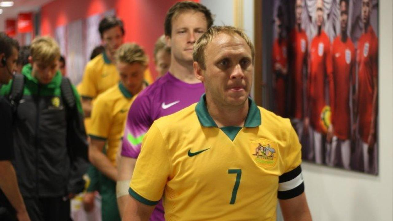 ROLE MODEL: Rockhampton's David Barber leads the Pararoos down the tunnel for another international.