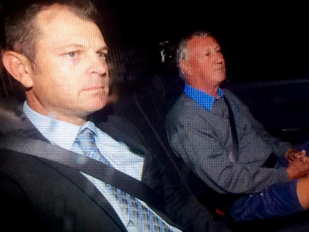 Detective Sergeant Justin Moynihan with initial Wililam Tyrrell person of interest Bill Spedding. Picture: Supplied