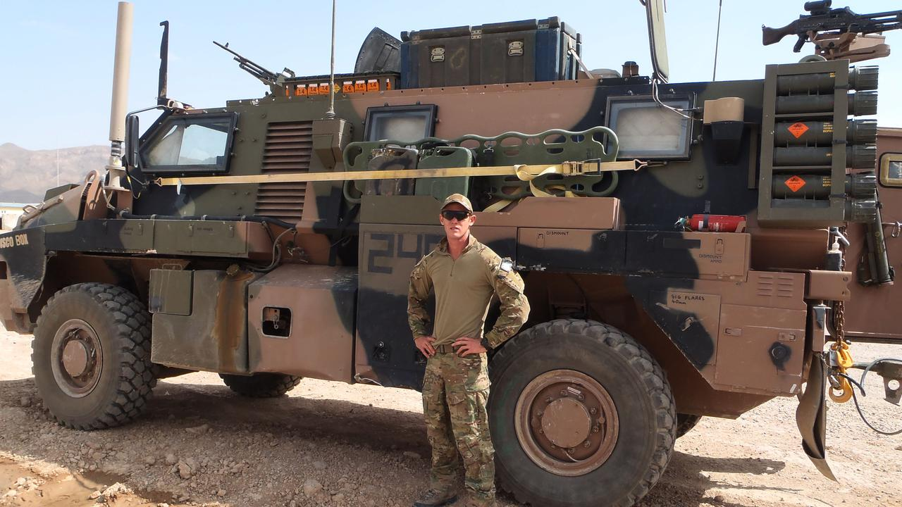 The late Private Robbie Poate in Afghanistan. Picture: Supplied