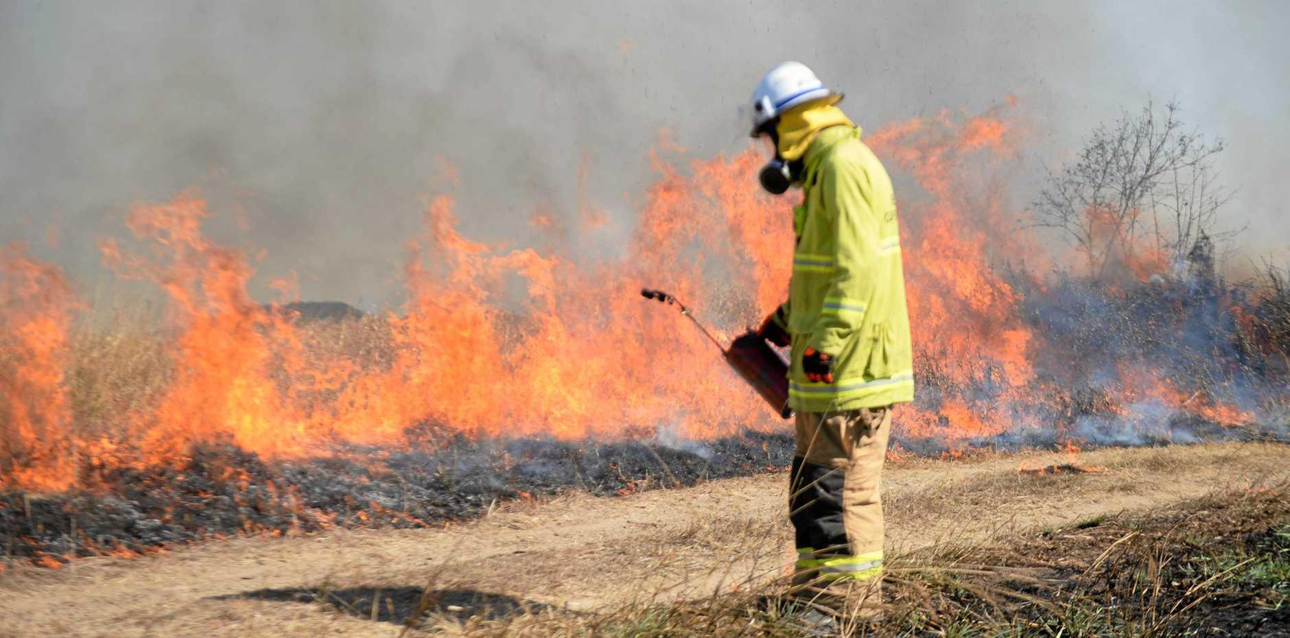 Crews across the Mackay region are fighting fires.