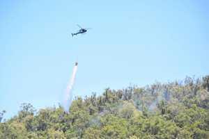 Paul's Pocket bushfire still burning