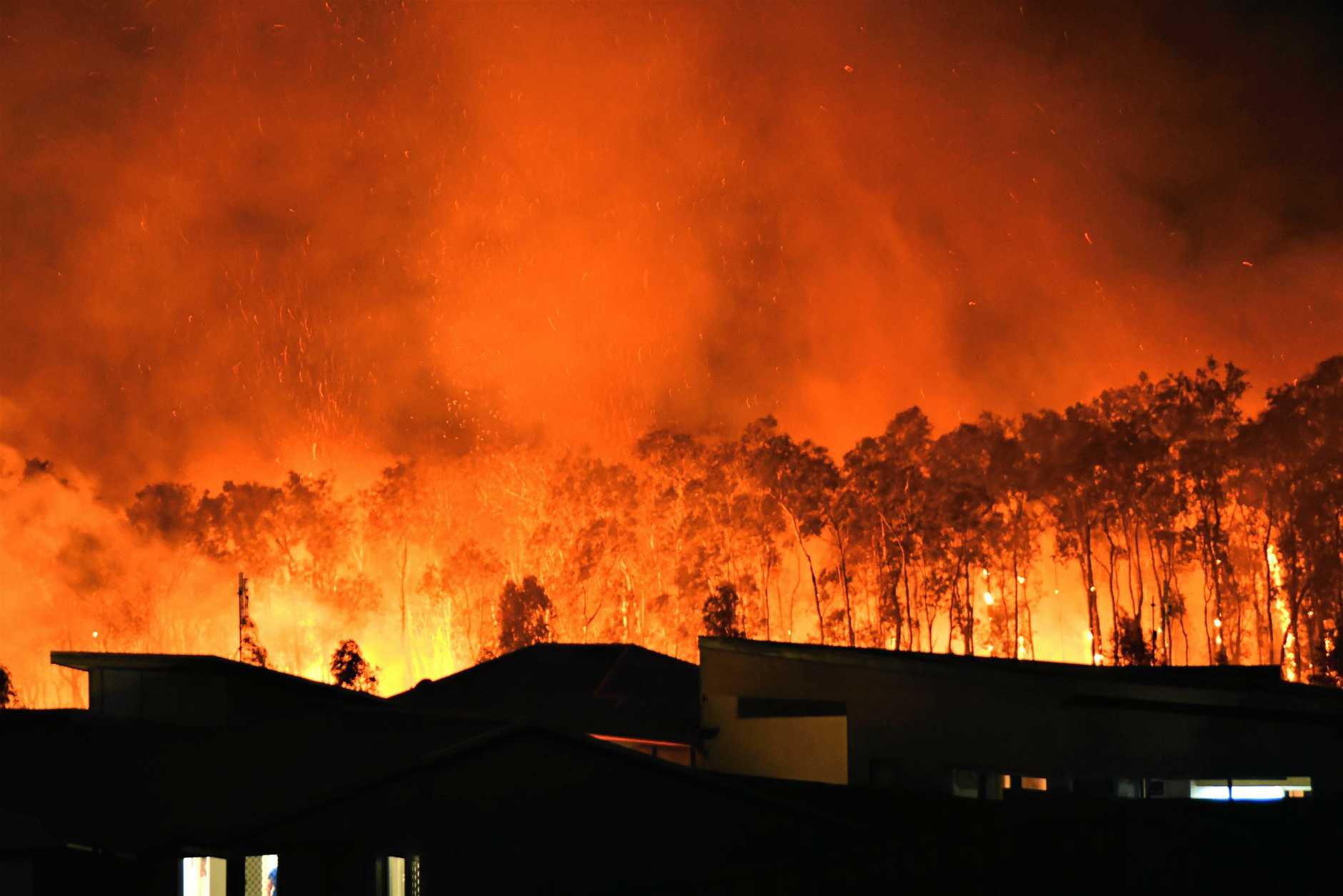 DANGER: The NSW Rural Fire Service said while the preferred and safest option is always to leave, and leave early, there are times when residents get trapped and must seek shelter.