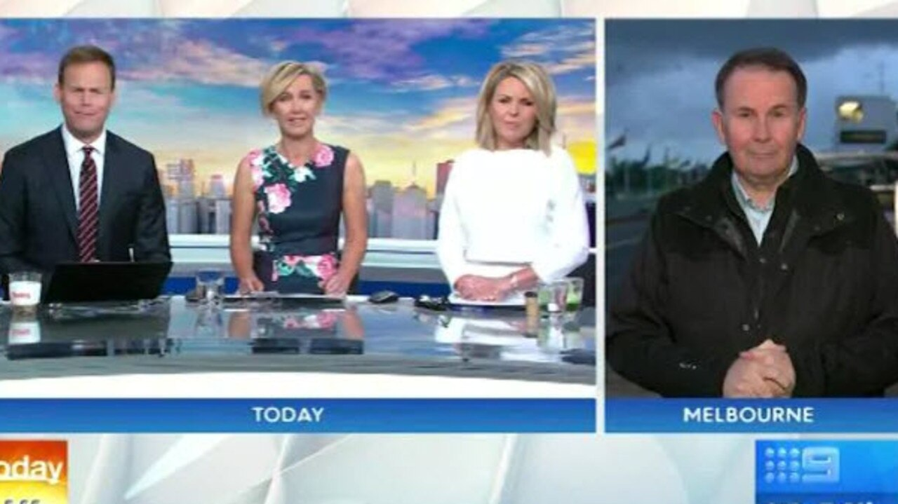 Awkward scenes during what turned out to be Georgie's last day on air.