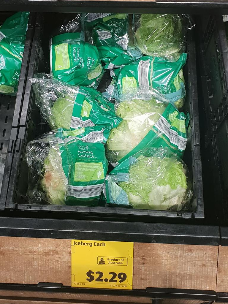 There was iceberg lettuce in soft plastic.