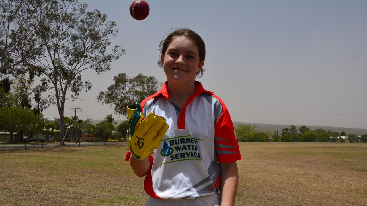 Charlotte Love has featured in the Wide Bay girls school cricket team for two years and has aspirations to pursue the game.