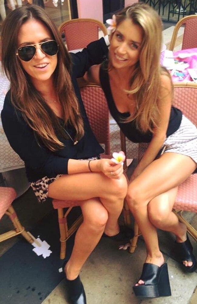 Kyle Sandilands new girlfriend Tegan Kynaston (right).