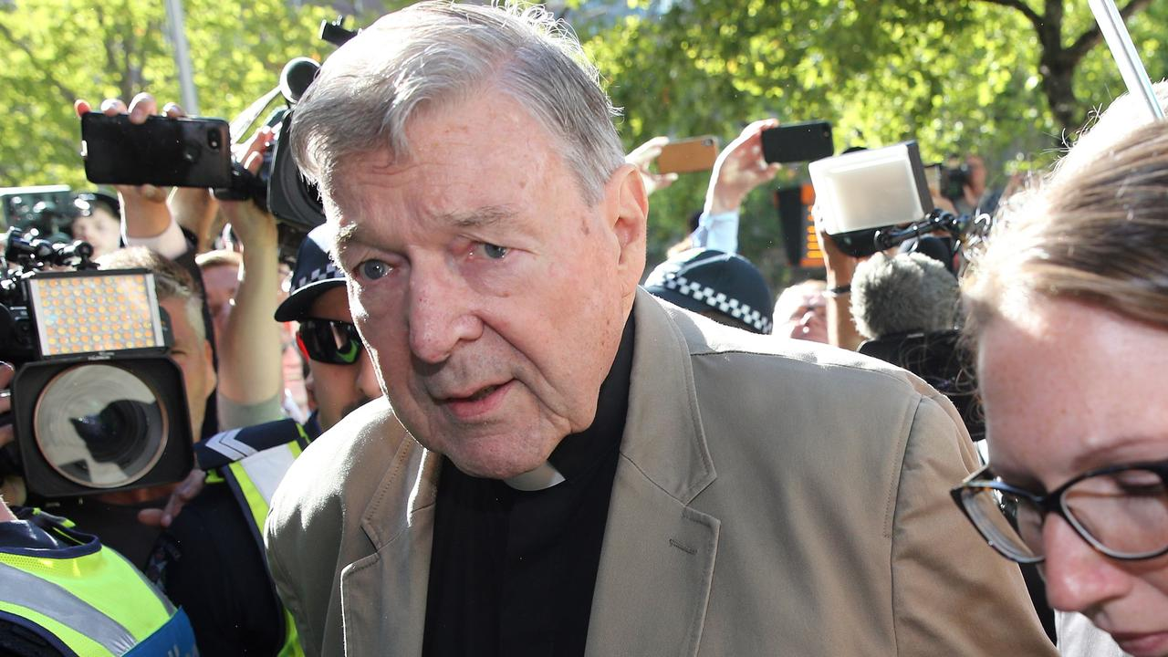 George Pell will this week learn if he can appeal his conviction. Picture: Con Chronis