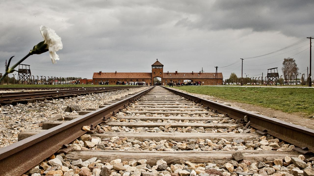 The train tracks at the entrance of the notorious Auschwitz II-Birkenau site. Picture: iStock