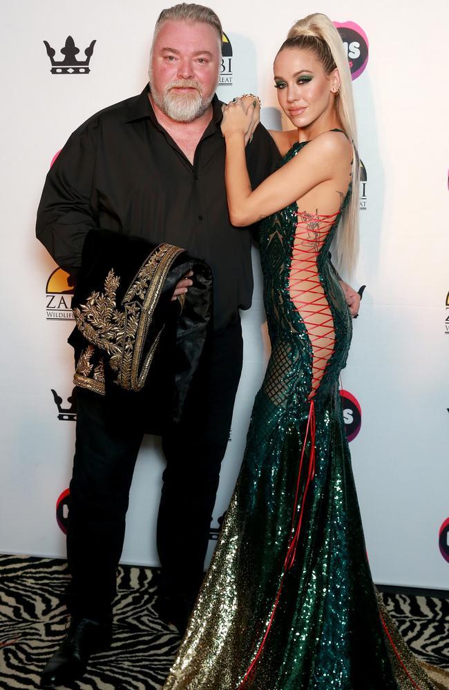 Split: Kyle Sandilands and former girlfriend Imogen Anthony. Picture: Toby Zerna