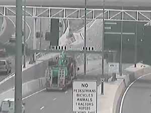 WATCH: Video captures moment truck crash closes tunnel