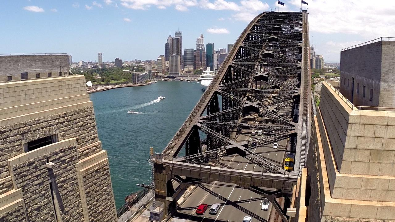 A new anti-drone system will be installed on the Harbour Bridge due to the number of drones that smash into it, the train tracks and the road. Picture: Supplied