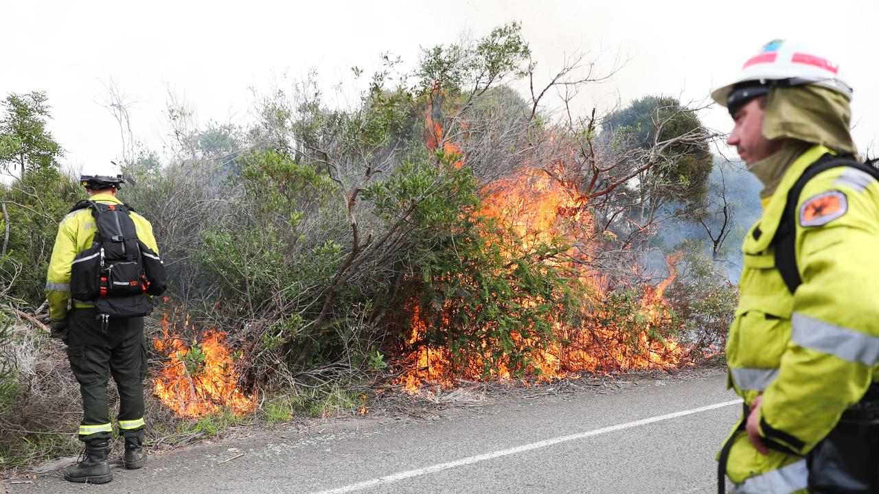 Hazard reduction near Tania Park Balgowlah. Picture: John Grainger