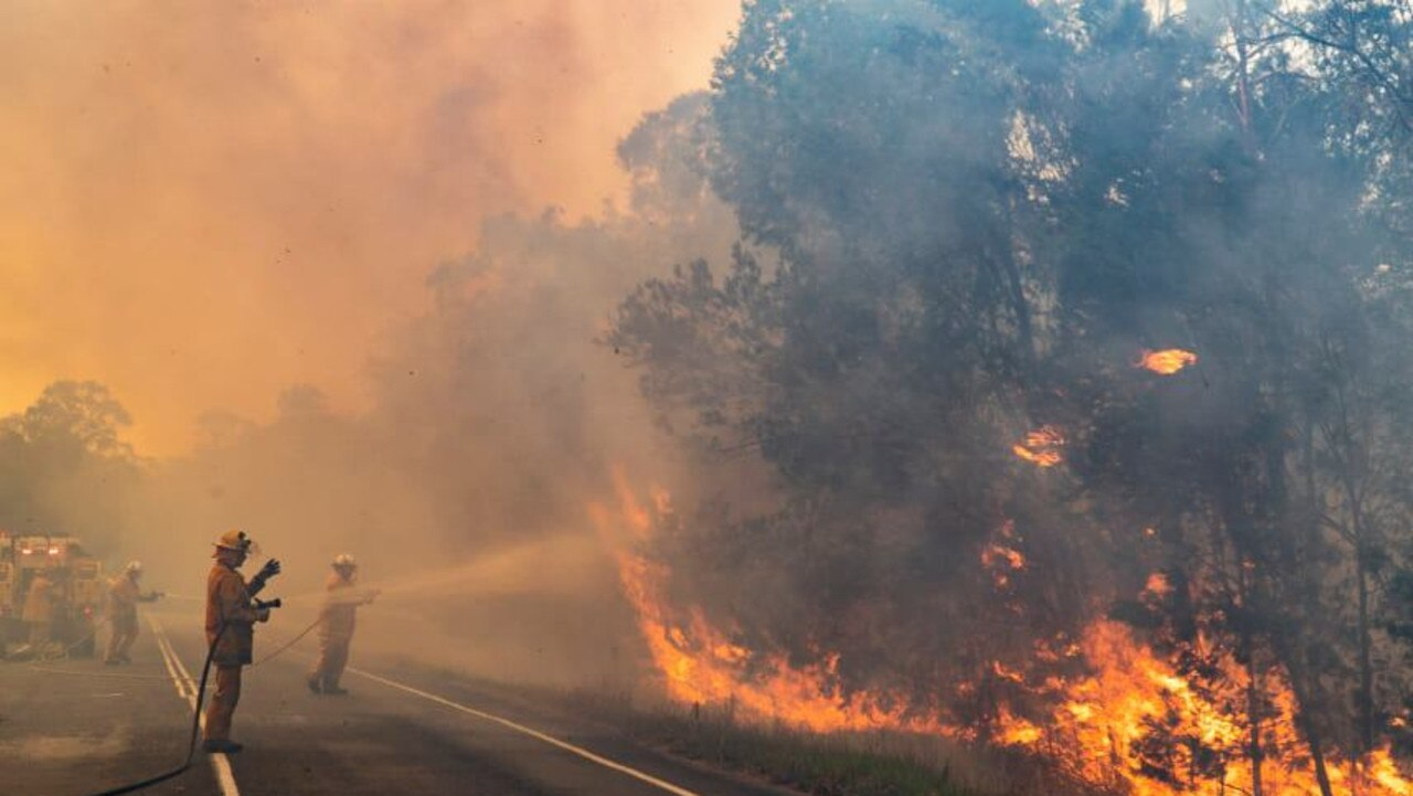 QFES fight a bushfire at Noosa. Picture: Facebook, Queensland Fire and Emergency Service