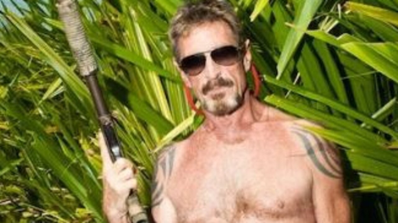 "John McAfee, who has been on the run from US authorities on his yacht since January and claims the CIA ""has attempted to collect us""."