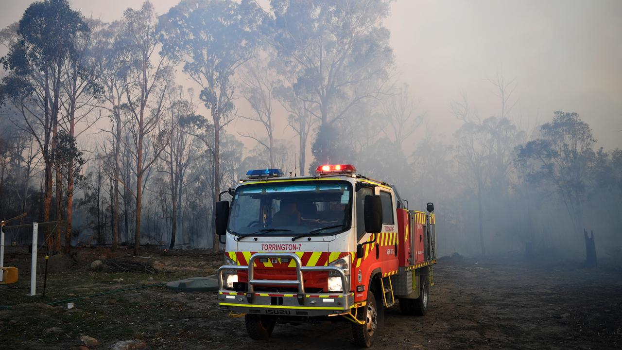 A NSW Rural Fire Service truck in Torrington, near Glen Innes. Picture: AAP/Dan Peled