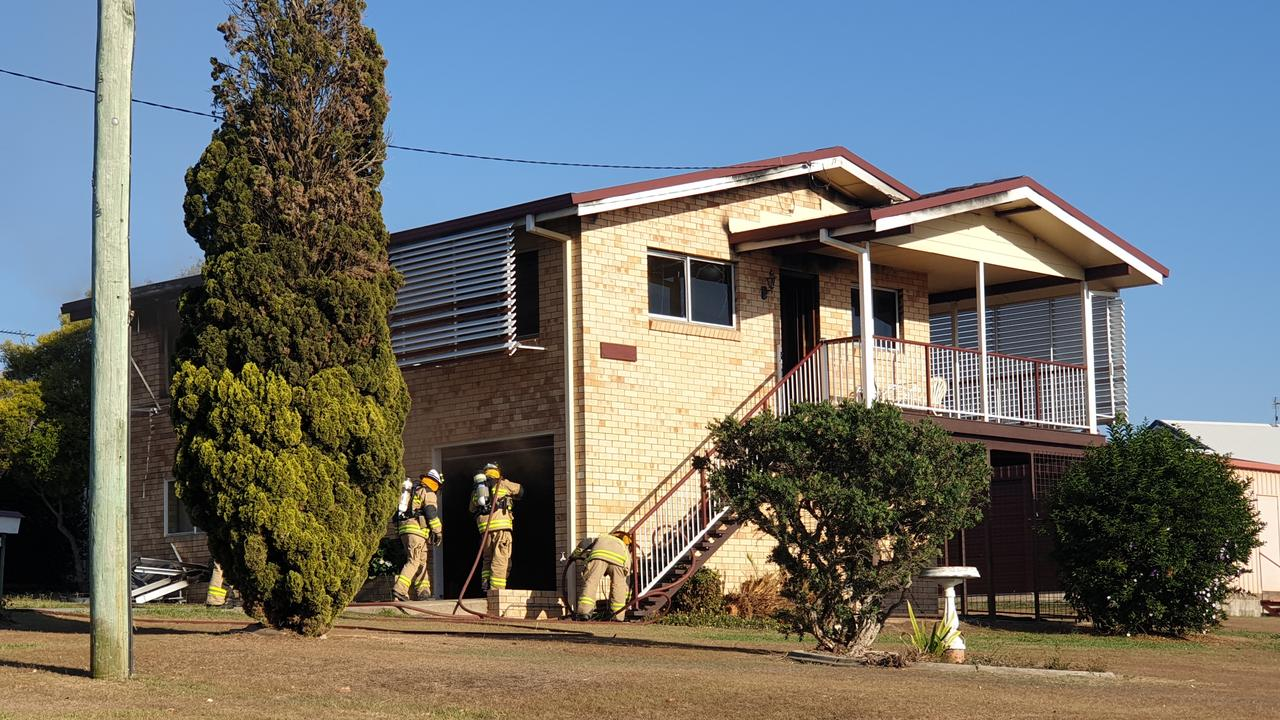 EMERGENCY: Fire broke out in a two-storey home on Cox Rd on Monday morning.
