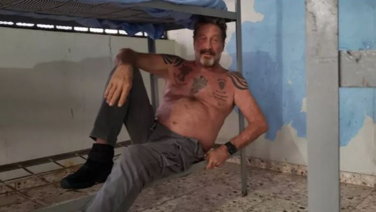 McAfee after his jail stay in the Dominican Republic.