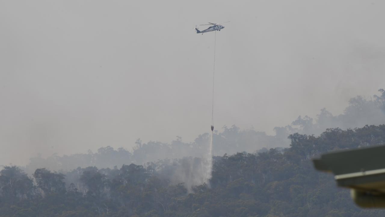Cobraball fire. Fire bomber in action near Mount Barmoya.