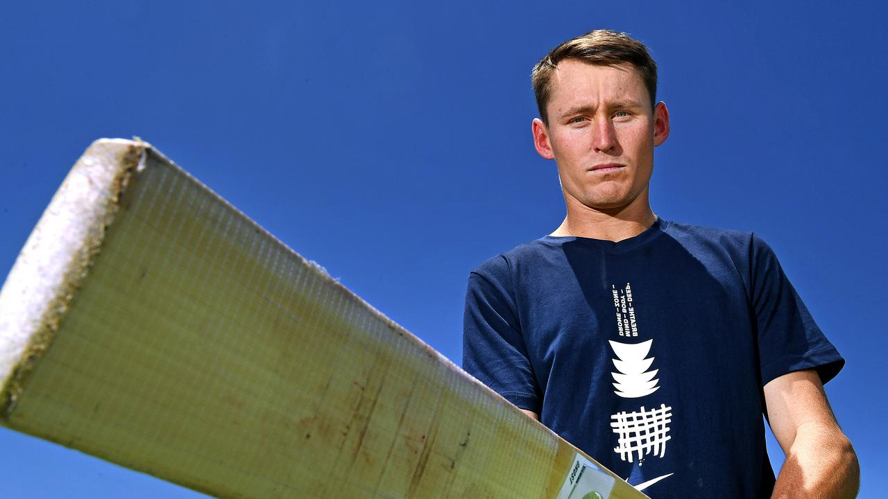 Marnus Labuschagne poses for a photograph at the Border Fields on Friday November 8. Picture: AAP Image/John Gass