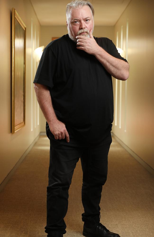 Kyle Sandilands in Sydney. Picture: Richard Dobson