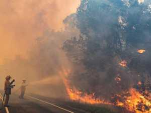 Inside Cooroibah bushfire