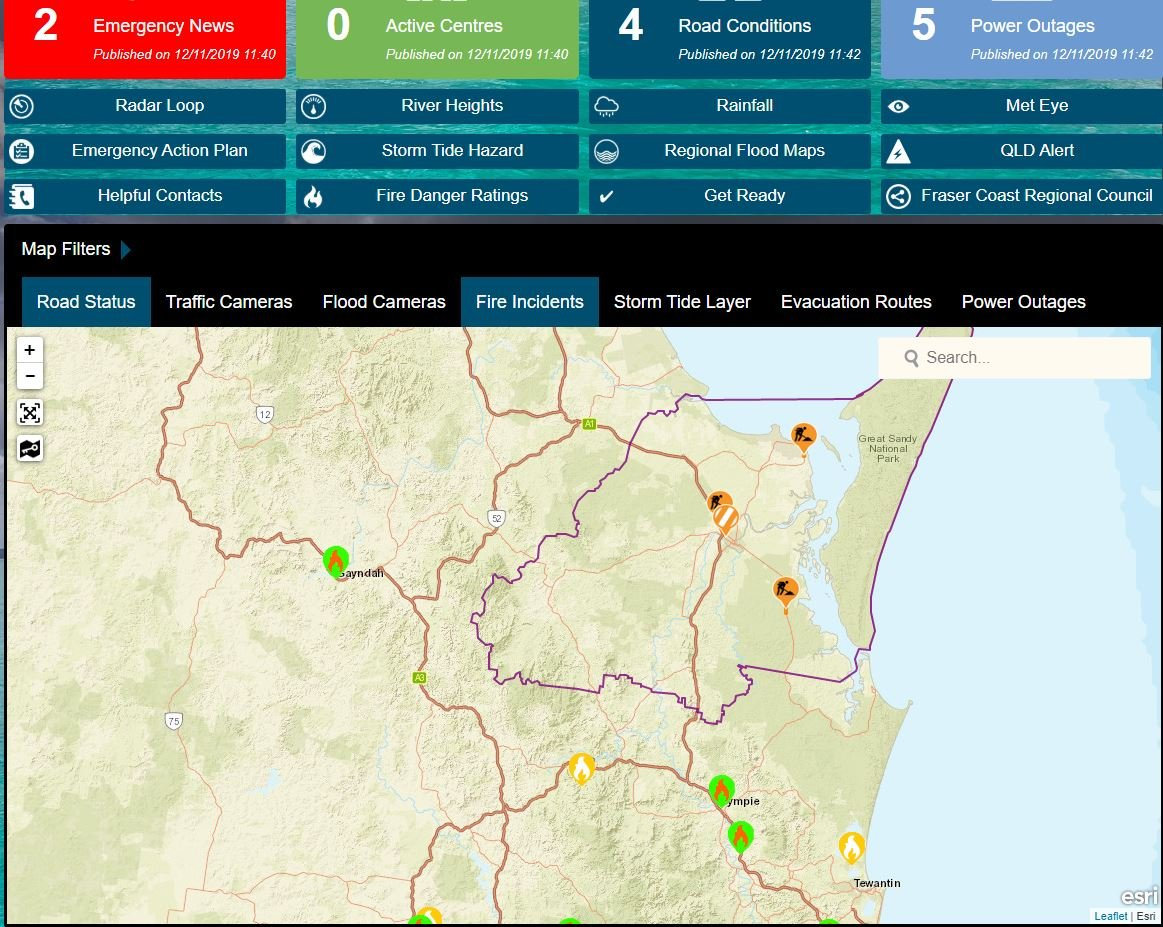 The Fraser Coast Disaster Management Group has upgraded the region's status to 'Alert'.