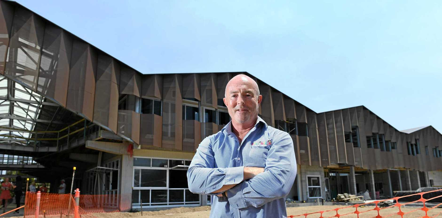 Developer and Kool Kids Early Learning Centres Creator Bruce Coulson in front of The Hive which is presently under construction.