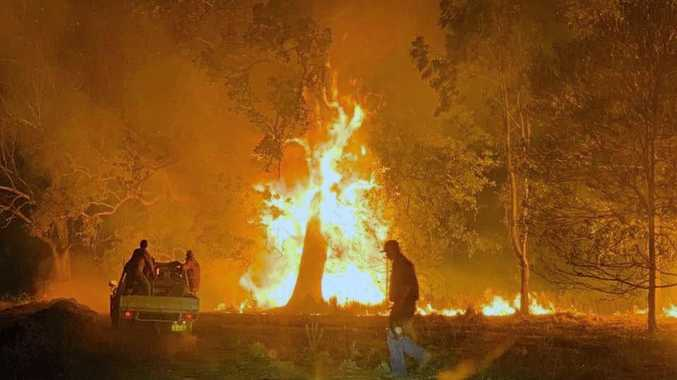 DRAMATIC IMAGES: Fires ravage cattle property near Baryulgil